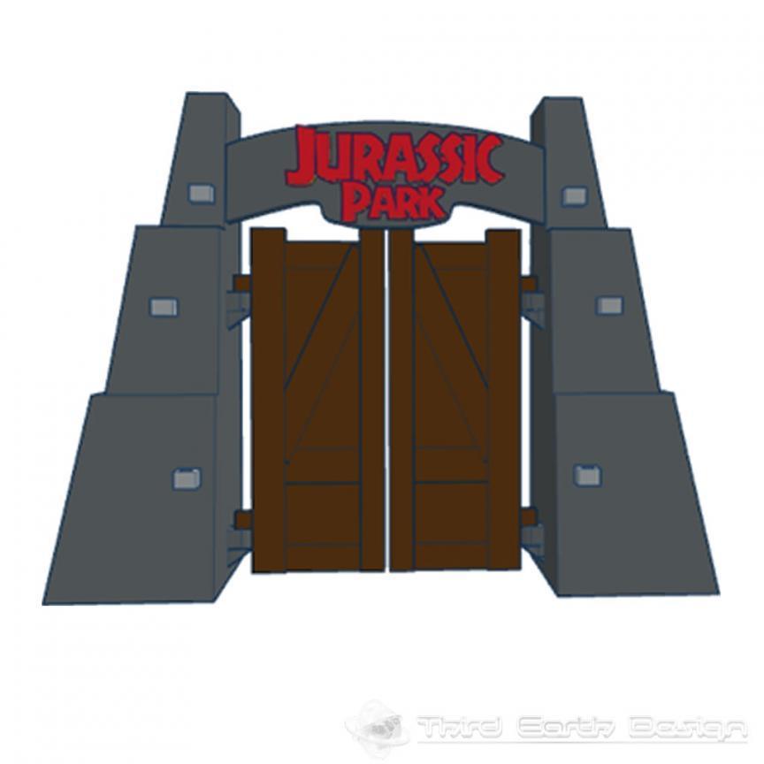 Jurassic Park Gates With Lego 174 Third Earth Design